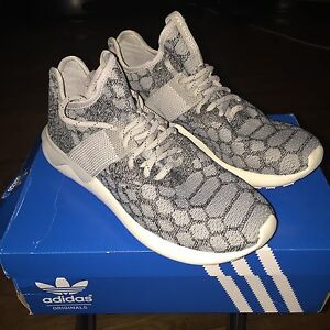 outlet store d430f e488f Details about Adidas Tubular Runner Prime Knit 7.5 Stone Vintage White  Supreme Boost