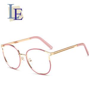 d2f98feaba4 LE Korean Cat Eye Glasses Frames Women Pink Myopia Optic Eyewear Rx ...