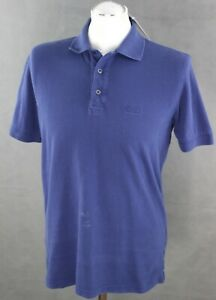HUGO-BOSS-Mens-FERRARA-Navy-PIMA-COTTON-Short-Sleeved-POLO-SHIRT-Size-SMALL-S