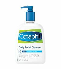 Cetaphil Daily Facial Cleanser Normal to Oily Skin, 16 oz Each