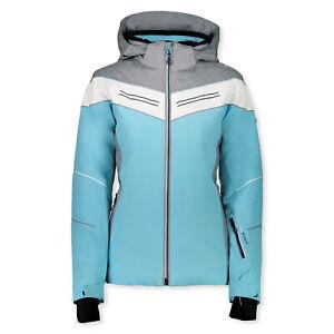 Details zu CMP Damen Skijacke Winterjacke Jacke Kapuze Zip Hood Jacket