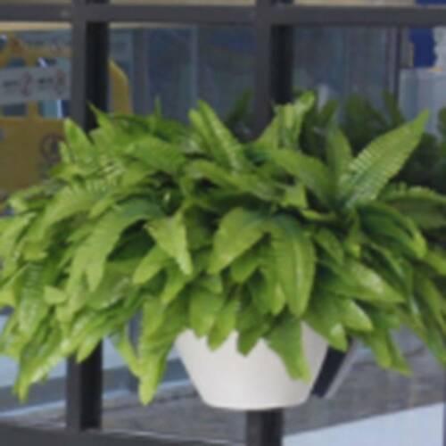 Ornaments Simulation Leaf Artificial Fake Bunch Green Plant Wall Hang Q