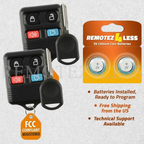 2 Remote for 2005 2006 2007 2008 2009 2010 Ford Mustang Keyless Entry Car Key