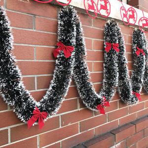 2M-Natale-Decorazioni-Ghirlanda-Luscious-NATALE-NEVE-suggerimenti-Holly-verde-scuro-e-bianco-JP