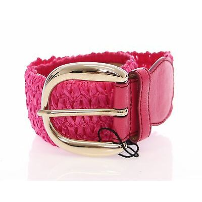 NWT $220 DOLCE & GABBANA D&G Purple Cotton Stretch Logo Belt s.70cm / 28 inch