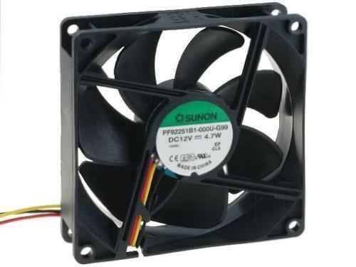 PF92251B1-G99 Ventilateur dc axial 12VDC 92x92x25mm 127.42m3//h 47dBA Balle SUNON