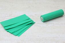 10 X 18650 GREEN Battery Wraps Pre Cut Heat Shrink PVC Sleeves replace old cover