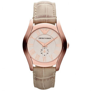 8f5735af59f10 Emporio Armani Beige Rose Gold Quartz Analog Women s Watch AR1670 ...