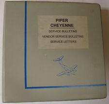 Cheyenne Original Service Bulletins, Vendor Service Bulletins, Service Letters
