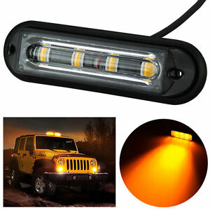 4 led car truck rv emergency beacon flash light bar hazard strobe image is loading 4 led car truck rv emergency beacon flash aloadofball Choice Image