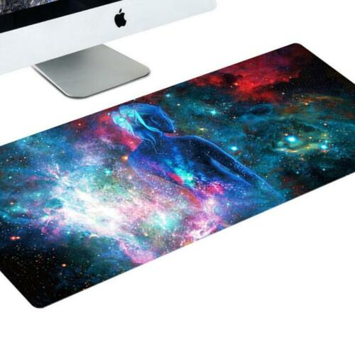 Large Anti-Slip Galaxy Gaming Mouse Pad Mat Laptop Computer Keyboard Mousepad