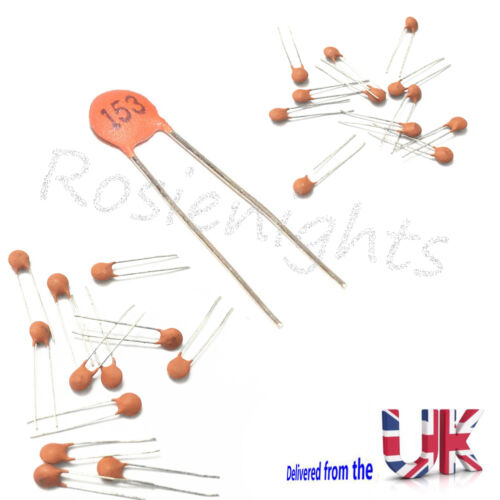 Ceramic Disc Capacitors 50V 153pf 15nf 0.015uf Dielectric Fixed Capacitor Uk