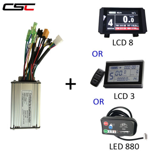 36V 250W 350W 500W Brushless geared Electric bike 6 Mosfet Controller /& display