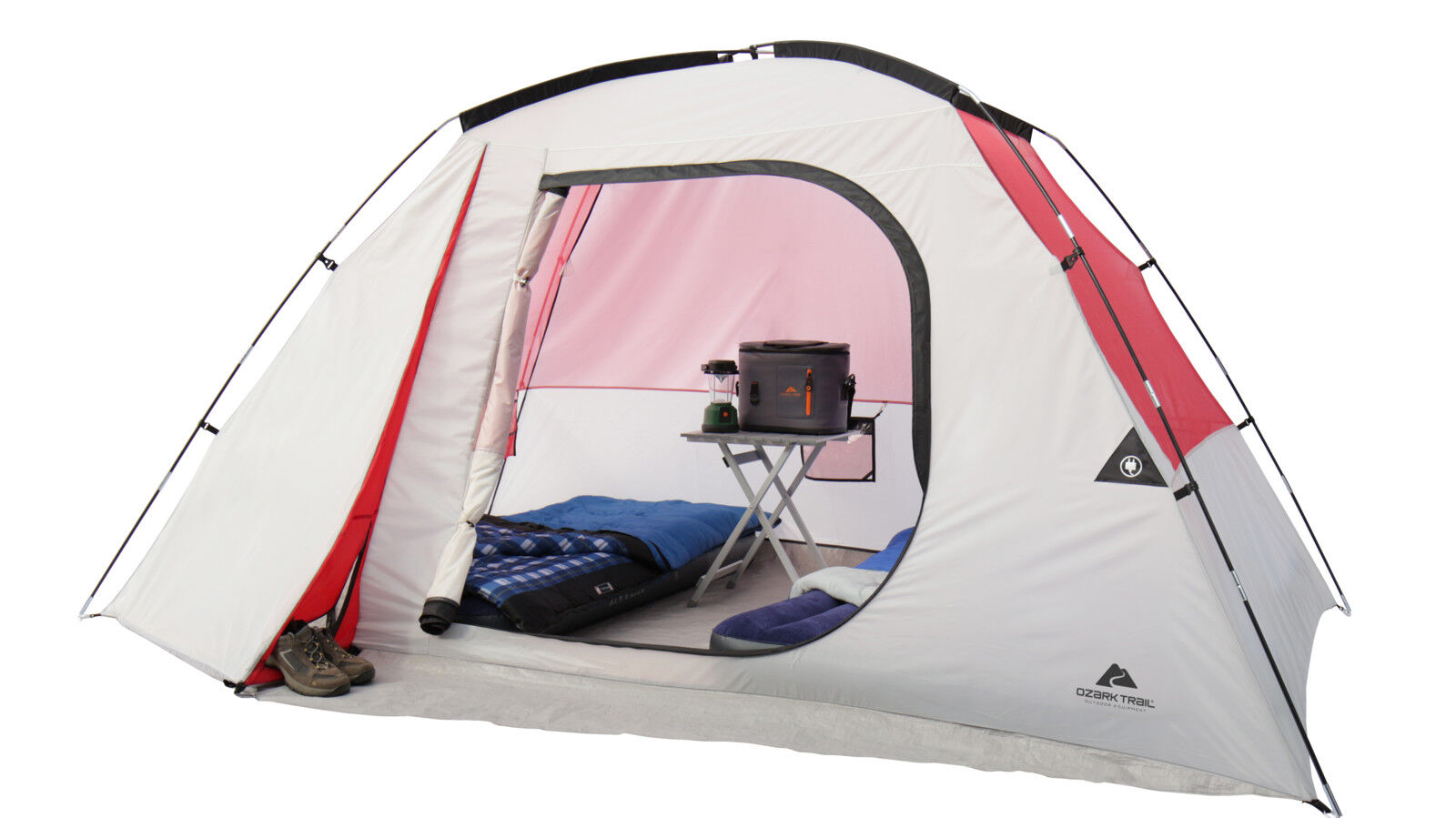 NEW Ozark Trail 6 Person Dome Camping Tent w  Mud Mat Camping Outdoor Family