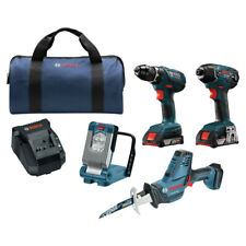 Bosch CLPK496A181R 18V Li-Ion 4-Tool Combo Kit (2 Ah) Reconditioned