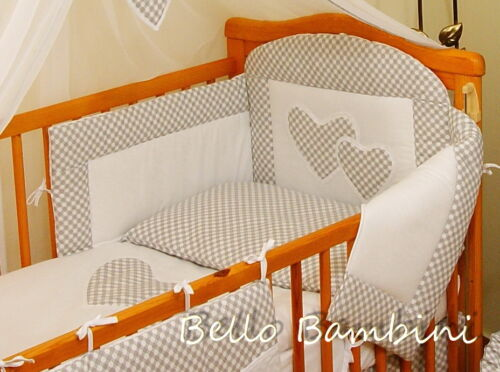 Luxury 7 pcs BABY BEDDING SET//BUMPER//DRAPE//HOLDER to fit Cot Bed or Cot