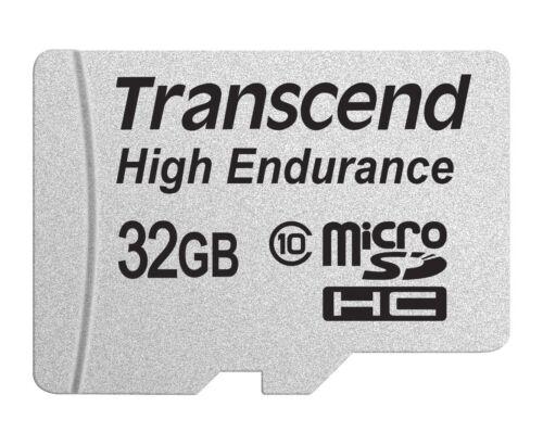 32GB Tarjeta microSDHC de Transcend de alta resistencia CL10 Con Adaptador Sd
