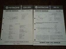 HITACHI CSK-306 Car Cassette radio Service manual wiring parts diagram DU-16 ASL