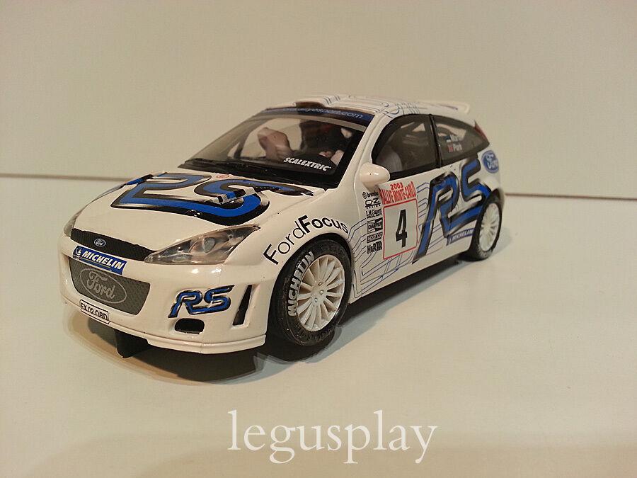 Slot SCX Scalextric Altaya Ford Focus WRC  4 Rallye Monte Carlo 2003 Matin Park