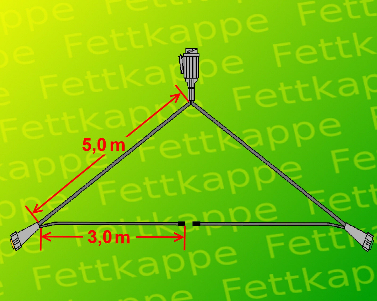 Aspöck Multipoint 5 Leuchten Set 13 polig 6,1 m