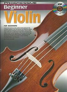 Details about PROGRESSIVE BEGINNER VIOLIN LESSONS - TEACH YOURSELF HOW TO  PLAY VIOLIN +CD