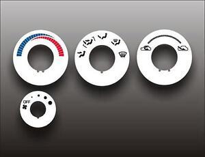 1990-1994-Mitsubishi-Eclipse-Eagle-Talon-White-HVAC-Heater-Control-Overlay