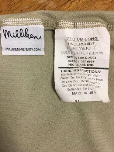 Military Silkweight Long Underwear Pant OR Shirt Thumbhole Long John Base Layer