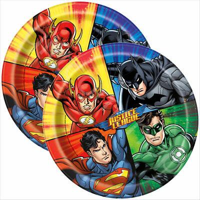 DC Comics Justice League Paper Plates 23cm 8 pack Party Tableware