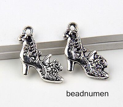 8pcs Jewelry Making Zinc Alloy High heels Charms Pendants 26x13mm 1A1711