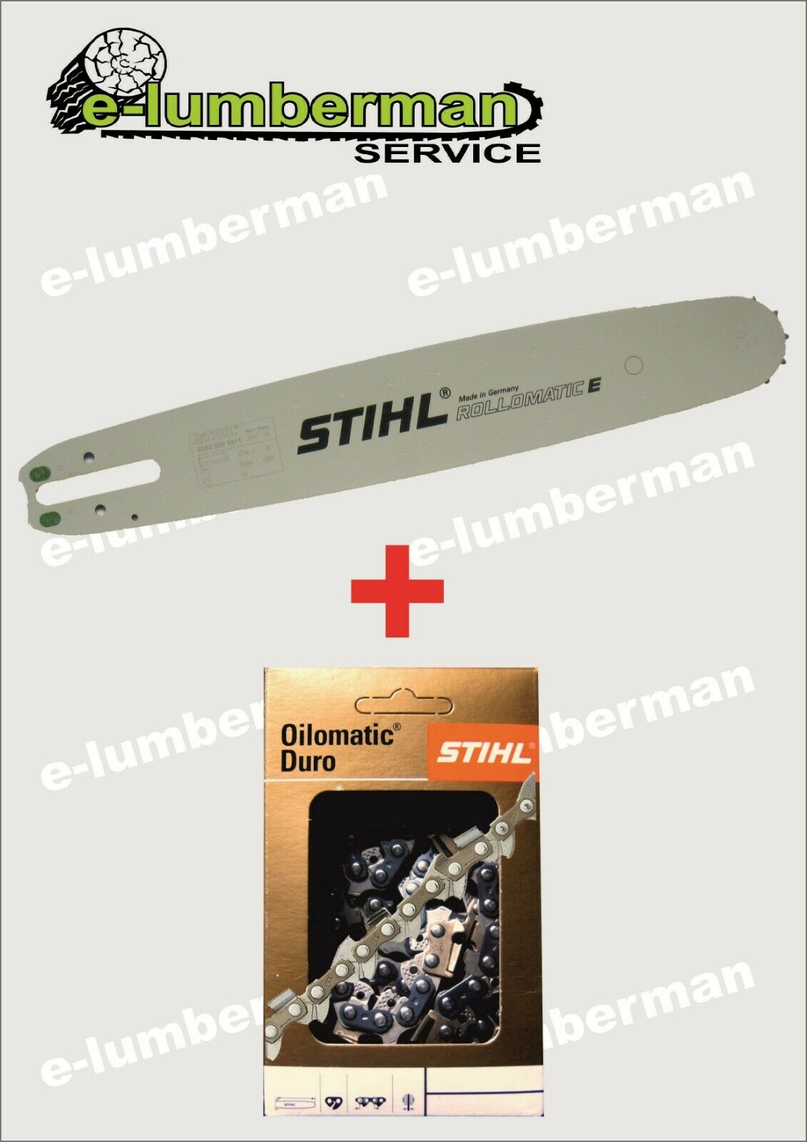Genuine STIHL 16  40cm Barra Guía & Duro Cadena 3 8  1.3mm (0.50 ) 55 DL MS231