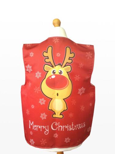 Merry Xmas Waistcoat Red Rudolph Reindeer Fancy Dress Novelty Gift Idea Party