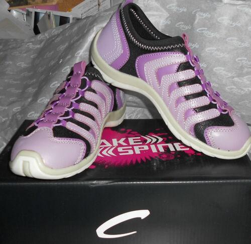 NEW// BOX CAPEZIO DS100 SnakeSpine Dance Sneaker Purple Jazz Hiphop