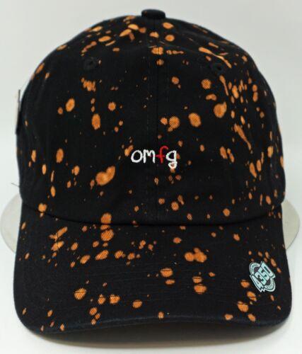 OMFG Black Unconstructed Color Dyed Splatter Cap Dad Painter Hat Adjustable NWT