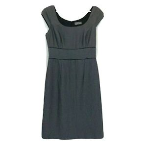 Jacqui-E-Womens-Grey-Sleeveless-Lined-Dress-with-Back-Zipper-Size-8