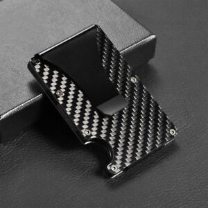 46d878e4149de0 Details about Men Stainless Steel Elastic Band Slim Money Clip Credit Card  Holder Wallet Purse