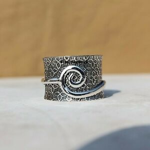 925-Sterling-Silver-Spinner-Ring-Meditation-Ring-Statement-Ring-Jewelry-A400