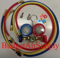 Ez Read134a,410a,r22,404a Manifold Gauge Set 48wshutoffs+134 Adapters+minisplit