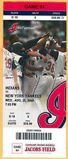 8/25/04 INDIANS FULL/MINT/SUITE TICKET-KENNY LOFTON'S 2,000TH HIT