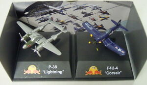 "P-38 ""LIGHTNING"" et f4u-4 ""Corsair"","" The Flying Bulls"", New Ray, terminé, * NOUVEAU * 							 							</span>"