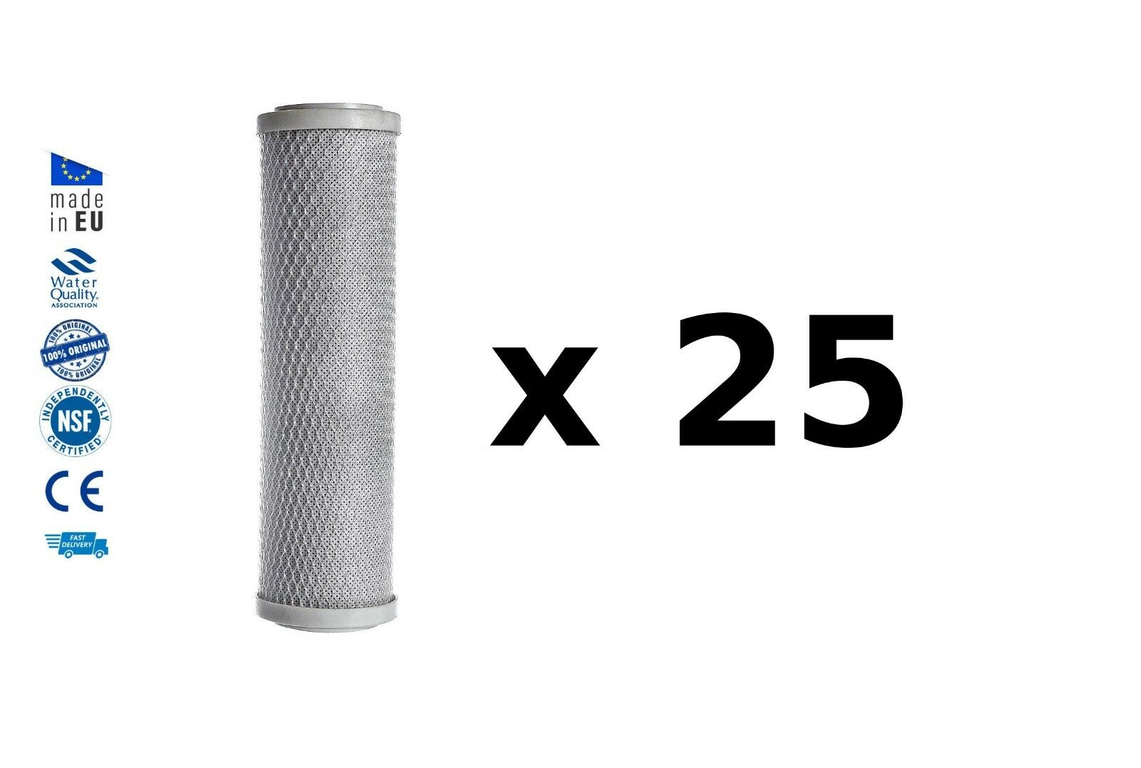 25x Reverse osmosis pre filters activated carbon block water filter replacements