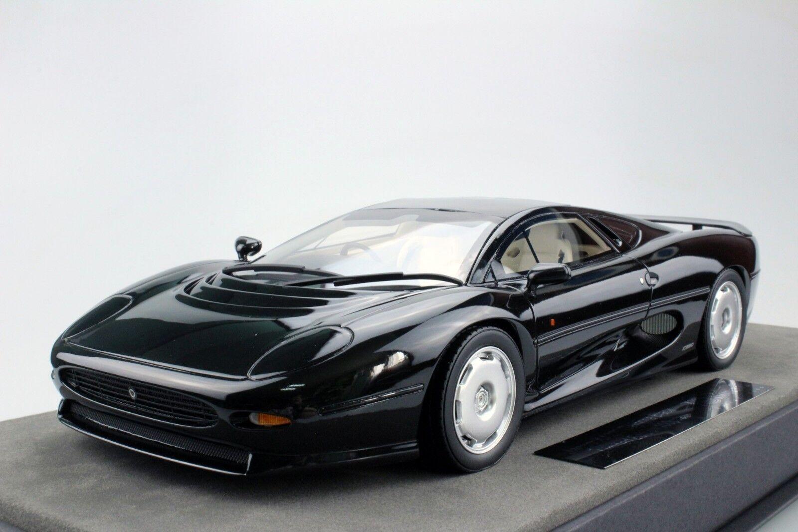 top Marques 1992 Jaguar XJ 220 Schwarz 1 18 Maßstab Le von 150 Neu Ausgabe   RAR