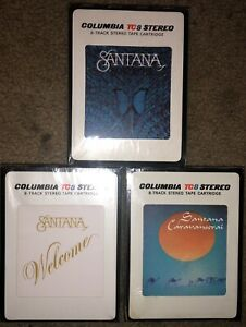 LOT-OF-3-SEALED-SANTANA-8-TRACK-TAPES-CARAVANSERAI-BORBOLETTA-WELCOME-NEW-LOOK