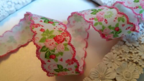 Wedding Cake Trim Bows Vintage Lace Pink Floral Grosgrain Ribbon Presents