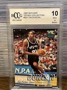 1997-Fleer-Tiffany-Tim-Duncan-Rookie-Card-BCCG-10-Mint-San-Antonio-Spurs-SP-RC