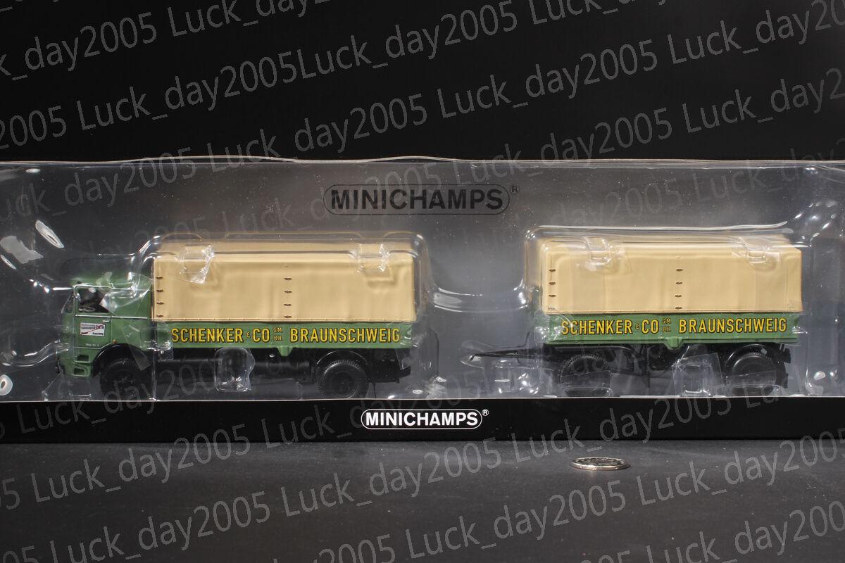 Minichamps BUESSING Lu 11 16 pritschenzug  Schenker  1 43 limitada 504pc