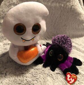 "NWT Ty Beanie Boos Halloween SCREAM the Ghost 6/"" /& Mask The Mummy 2"
