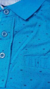 KAM KBS5224 BLUE DIAMOND PRINT DOBBY POLO SHIRT 2XL3XL4XL5XL6XL7XL8XL