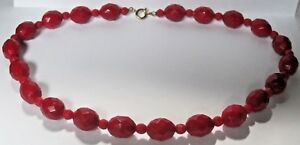 Chunky-Red-Bobbles-Beaded-Choker-Necklace