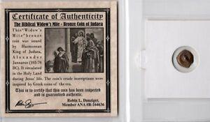 Widow/'s Mite Ancient Coin Certified Authentic Low Grade Mini Album