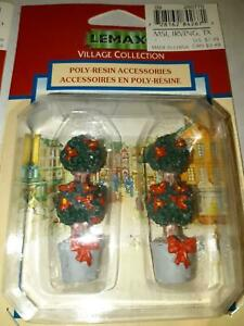 """Lemax Village Lot of Two Topiary New 2"""" Figurines"""